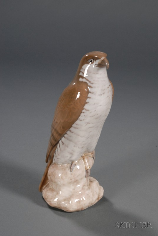 Bing & Grondahl Porcelain Figure of a Hawk,
