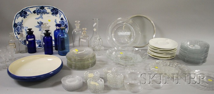 Large Lot of Assorted Glass and Ceramic Tableware