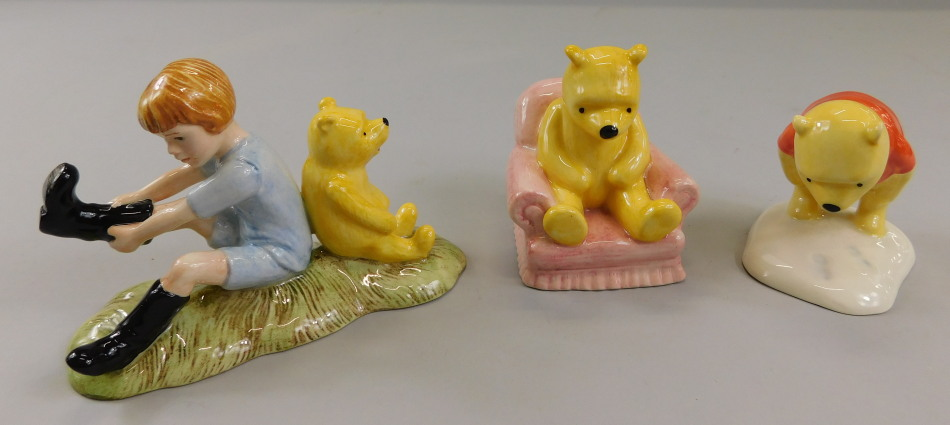 Three Royal Doulton Winnie The Pooh collection