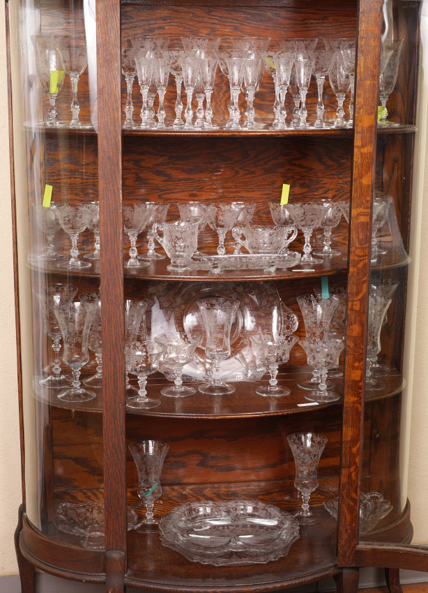 COLLECTION OF CAMBRIDGE ROSE POINT ETCHED