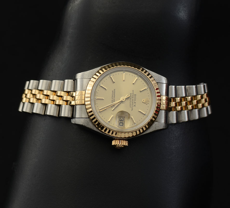 LADIES 18K/SS ROLEX OYSTER PERPETUAL DATEJUST