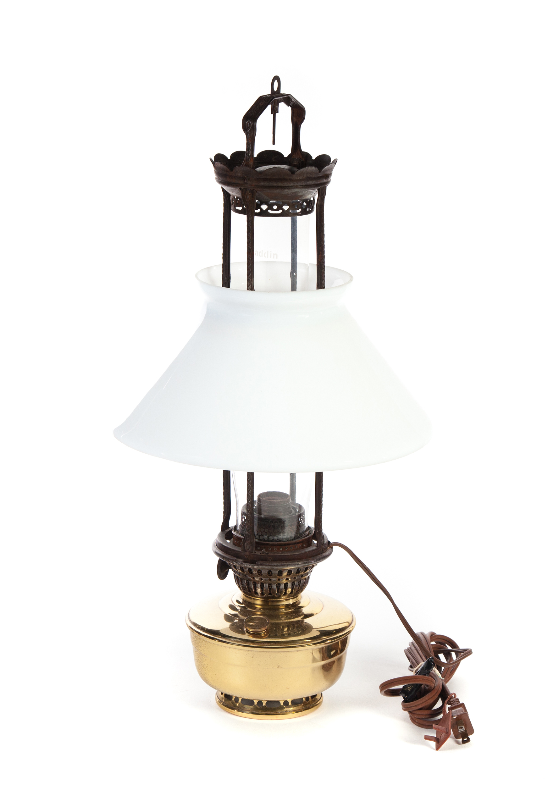 "HANGING ""ALADDIN MODEL 12"" OIL LAMP MANUFACTURED"