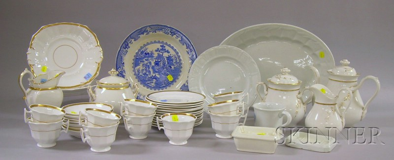 Thirty-seven Piece Assembled Gilt Porcelain