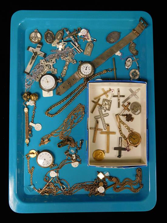 Assortment of miscellaneous jewelry, watches,