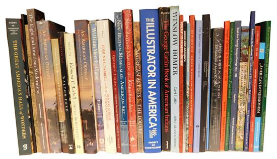 BOOKS: Collection of American Art books,