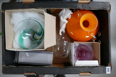 A mixed collection of glassware items to