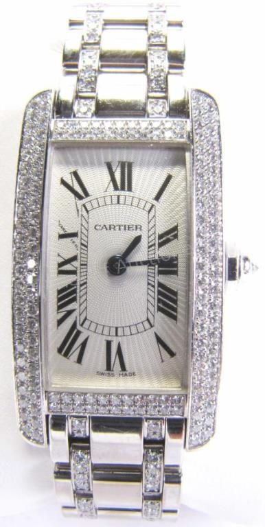 A lady's Cartier Tank American wristwatch