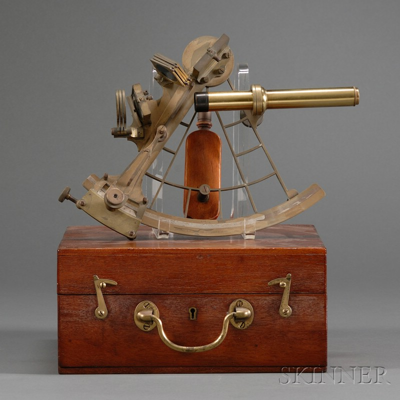 Brass 7-inch Radius Sextant by Turnbull &