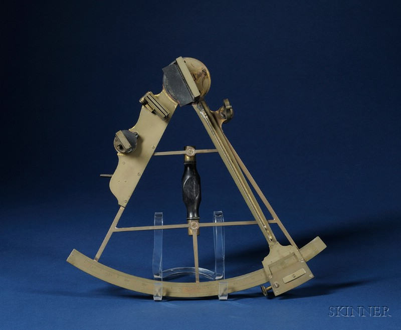 11 in. Radius Brass Sextant by H. Lambert,