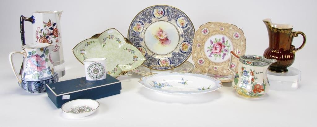 Group of Decorated English Porcelain, 12