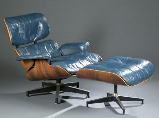Eames rosewood 670 lounge chair with 671