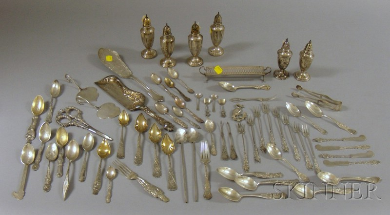 Group of Sterling Flatware Table Items, including