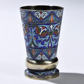 Price guide for Russian  916 Silver and Cloisonné-enameled