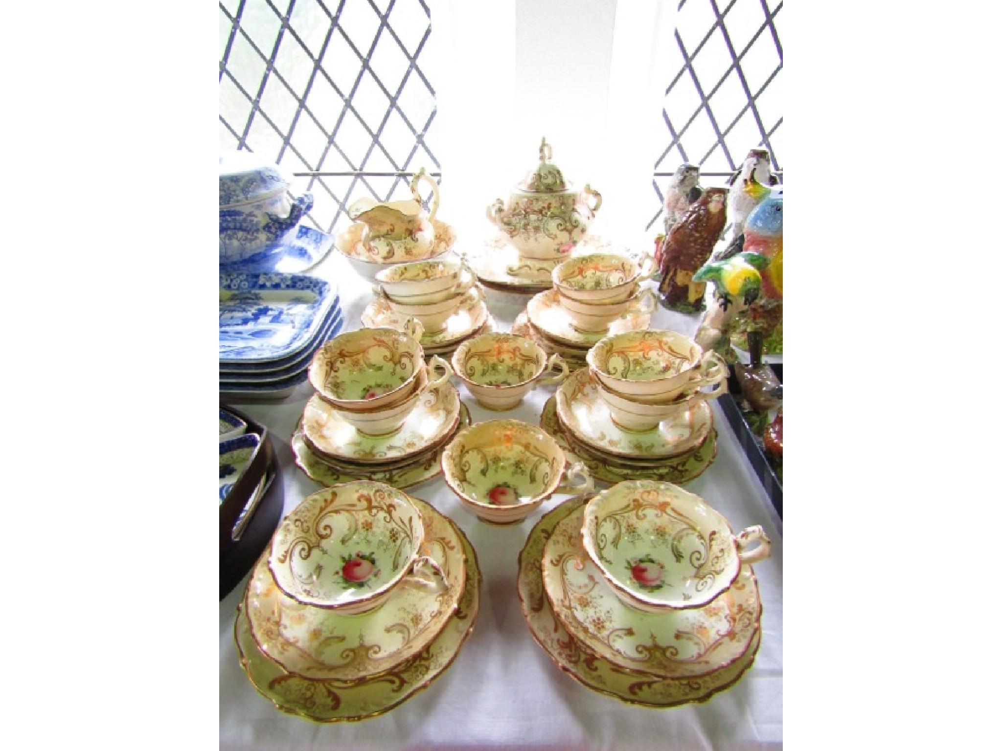 A collection of Victorian tea wares with