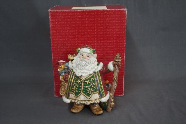 Fitz and Floyd Jolly Ole St. Nick Santa Teapot