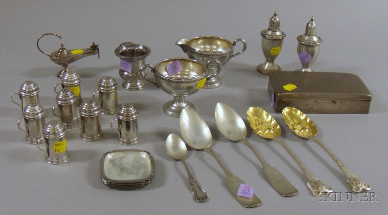 Approximately Twenty-eight Assorted Silver