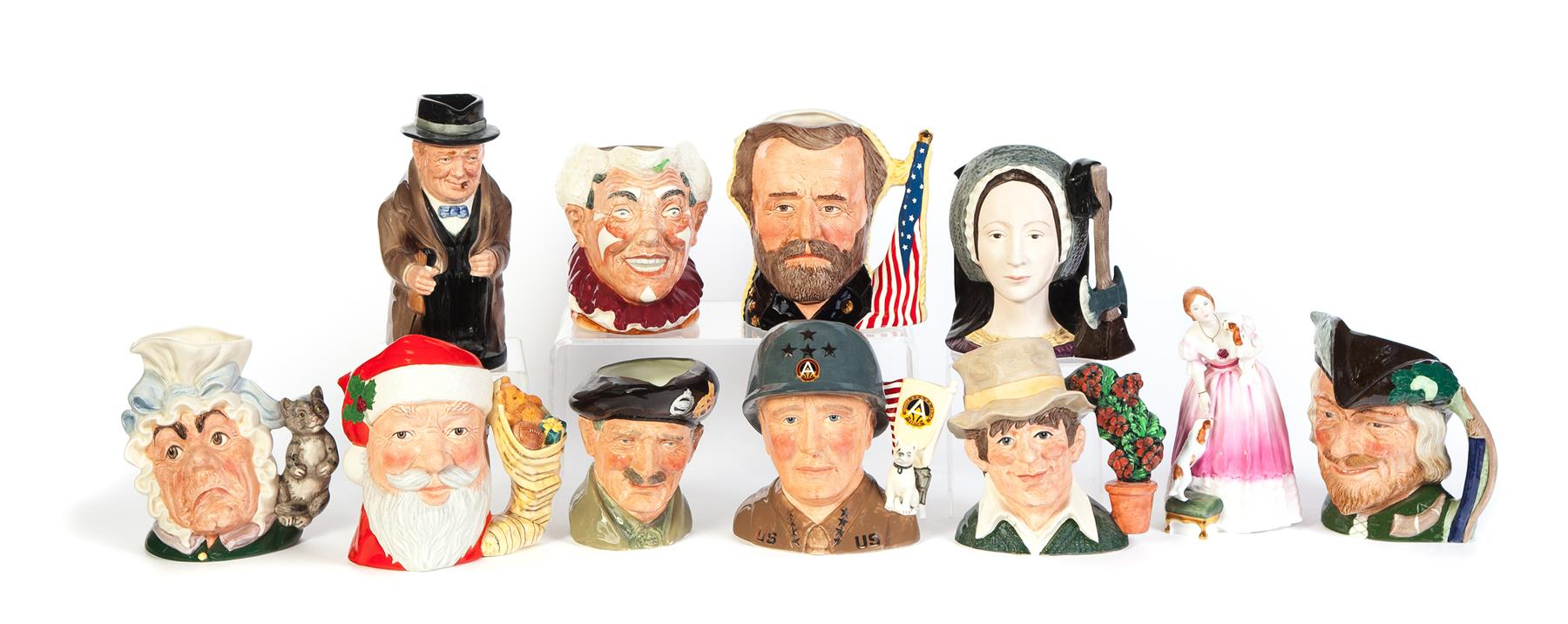 ELEVEN PIECES OF ROYAL DOULTON, TEN CHARACTER