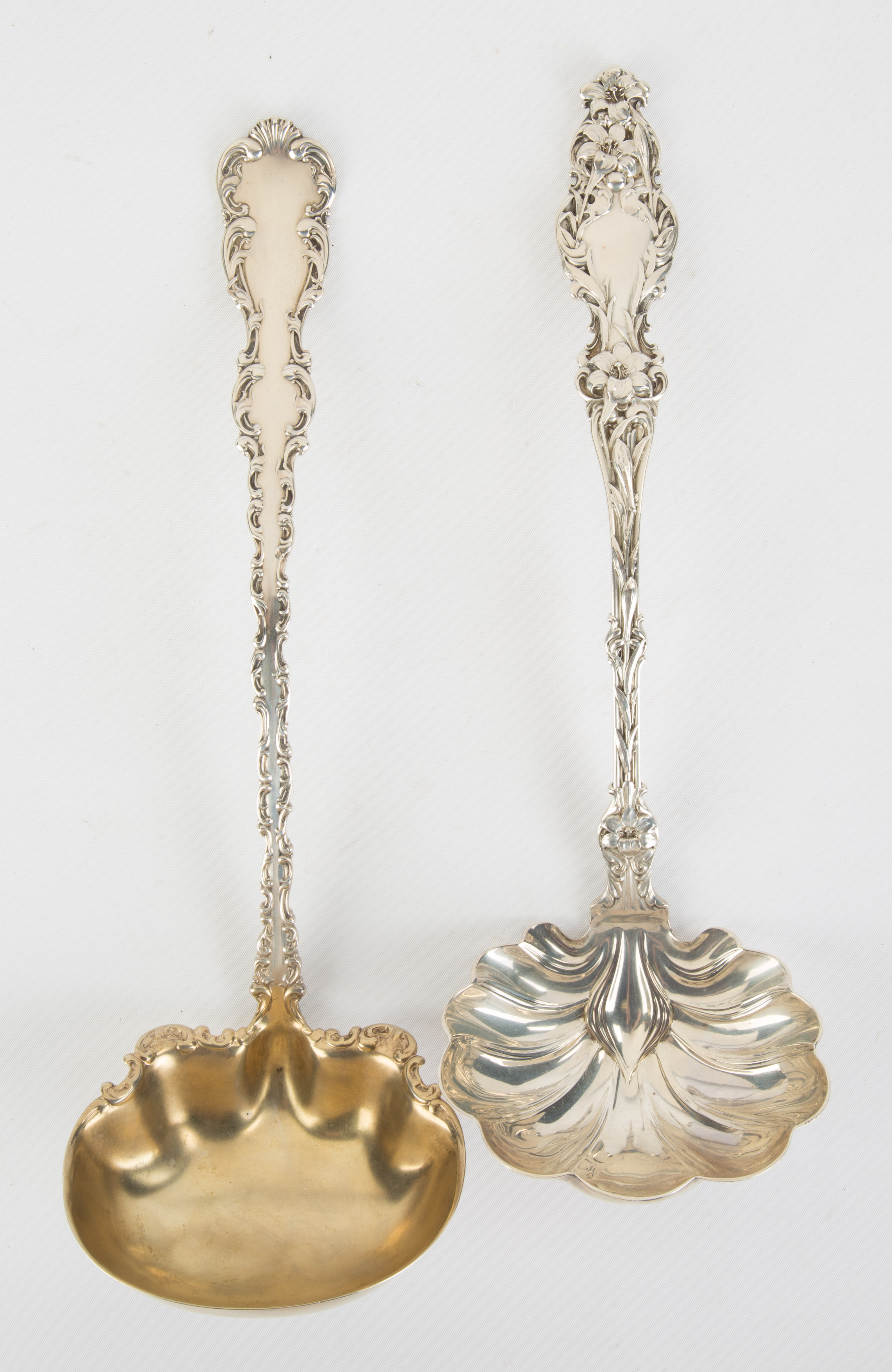 Two Whiting Sterling Silver Ladles  Whiting