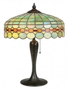Slag Glass Lamp  American, early 20th century,