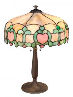 Handel Slag Glass Lamp  American, early 20th