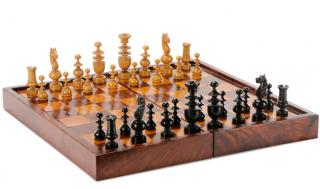 Rosewood Games Box w/Regence Style Chessmen