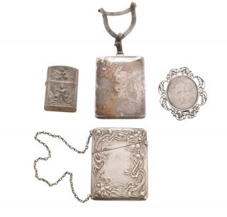 Group of 4 Sterling Accessories  Group of