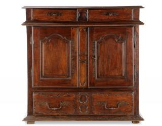 French Provincial Walnut Buffet Cabinet,