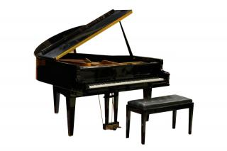 Kimball Black Lacquered Baby Grand Piano