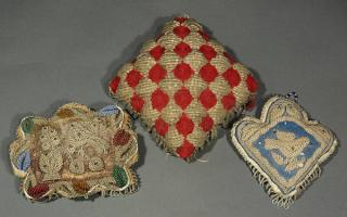 (lot of 3) Iroquois beadwork whimsy pillow