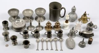 Assorted pewter and lighting, 51 items  Assorted