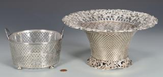 2 Sterling Baskets  Two sterling silver baskets