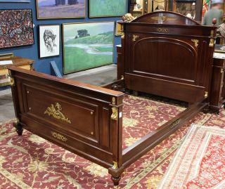 (lot of 5) French Empire style bedroom suite,