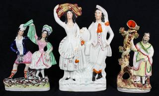 (lot of 3) Associated Staffordshire figurals,