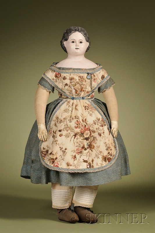 Papier-mache Doll with Open Mouth, Germany,