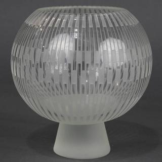 William Lequier art glass footed bowl, from