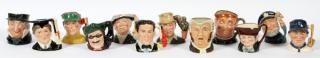ROYAL DOULTON PORCELAIN TOBY MUGS TWELVE