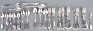 54 pcs Coin Silver Flatware  Large group
