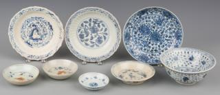 Asian Blue White Bowls inc Ming  Group of