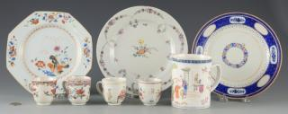 8 Chinese Export Porcelain Items inc. cups,