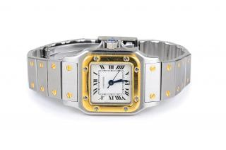 A Two Cartier stainless steel and 18K yellow