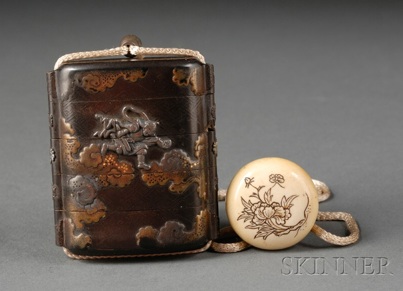 Seal Case, Japan, 19th century, four-compartment