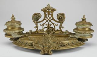 19th c. French gilt bronze encrier  Mid 19th