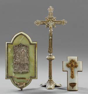 Group of Three French Religious Items, early
