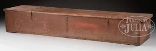 EARLY AMERICAN MILITIA ARMS STORAGE CHEST,