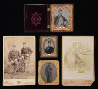GROUP OF FIVE AMERICAN 19TH CENTURY MILITARY