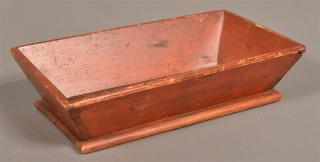 Pennsylvania Red Painted Softwood Apple Tray.