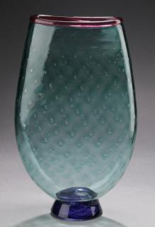 Contemporary art glass vase by Bruce Pizzichillo