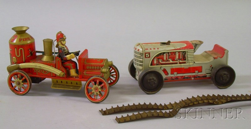 Marx Lithographed Tin Wind-up Tractor and