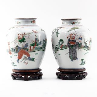 Pair of 19th Century Chinese Famille Vert
