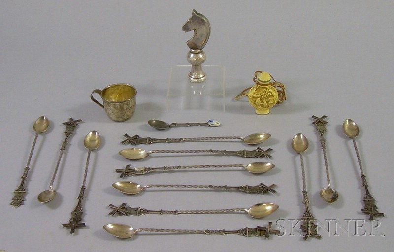 Group of Silver Plated and Silver Serving